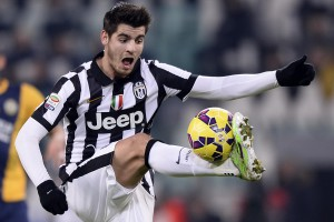 Foto LaPresse - Fabio Ferrari 18/01/2015 Torino ( Italia) Sport Calcio Juventus Fc - Hellas Verona Campionato di Calcio Serie A TIM 2014 2015 - Nuovo Stadio della Juventus di Torino. Nella foto:Morata Photo LaPresse - Fabio Ferrari 18 January 2015 Turin ( Italy) Sport Soccer Juventus Fc - Hellas Verona Italian Football Championship League A TIM 2014 2015 - New Stadium of Juventus Fc. In the pic:Morata